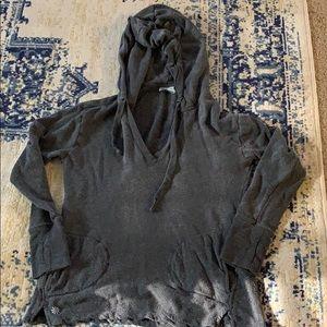 Athleta No Rush Hoodie Charcoal heather Gray small